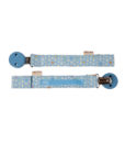 HEVEA pacifier holder front back blue
