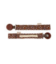 HEVEA pacifier holder front back brown