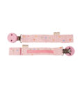 HEVEA pacifier holder front back pink